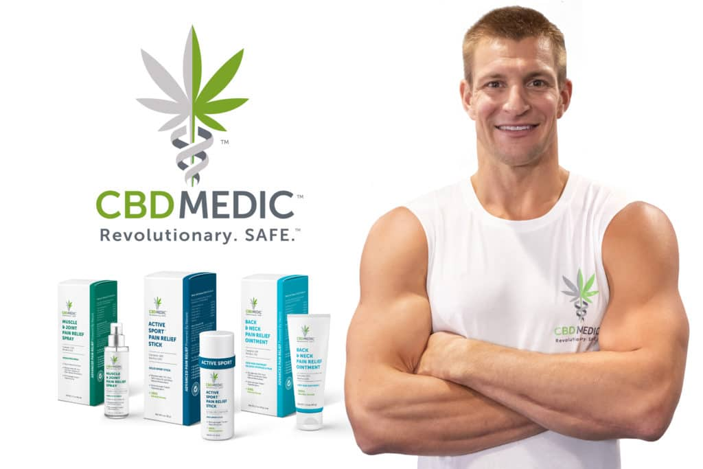 Former NFL Player, Rob Gronkowski, partners with CBDMEDIC
